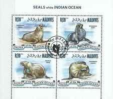Timbres Faune marine Phoques Maldives 4059/62 o de 2013 lot 15723 - cote : 15 €