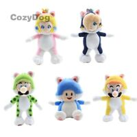 Super Mario 3D World Plush Doll Cat Luigi Toad Peach Rosalina Stuffed Toy Gift