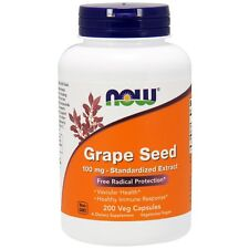 Now Foods Grape Seed - 200 - 100mg Vcaps - Antioxidant Protection