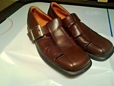 ECCO FISHERMAN BROWN LEATHER MENS SANDALS. SIZE 8 M