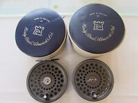 stunning vintage hardy marquis no.8/9  trout fly fishing reel spool + cases etc