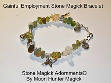 Gainful Employment Spell Get A Job Stone Magick Bracelet Reiki Charm