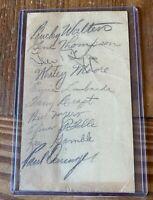 1940 Cincinnati Reds Team Signed GPC Government Postcard w/ Ernie Lombardi + 9
