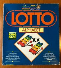Vintage 1985 Play Ed Games Lotto Alphabet King Size