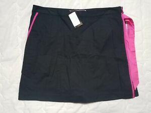 1 NWT GOLFTINI WOMEN'S SKORT, SIZE: 12, COLOR: BLACK/PINK (J120)