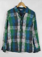 STREET ONE Damen Bluse, mehrfarbig kariert, Größe 40, 100% Baumwolle