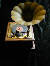 vTg Gramy-Phone Radio Minature Phonograph Gramophone Record Player Music Box