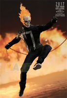 Movie Ghost Rider Johnny Blaze HC 34cm PVC Action Figure Model Toy In Box Gift