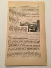 K41) View of Oswego Harbor New York In 1848 American Revolution 1860 Engraving