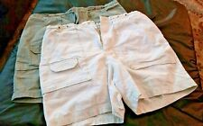 St. John's Bay shorts (2 pairs) Size 6 w/ Big Pockets For Women Mid Thigh Length