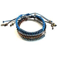 Men Bracelet Natural Roundel Hematite  Bead Handmade Adjustable By Ruigos