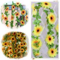 New Artificial Plastic Sunflower Garland Flower Vine Home Wedding Decor