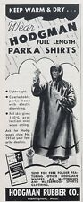 1956 AD.(XG12)~HODGMAN RUBBER CO. FRAMINGHAM, MASS. PARKA RAIN SUITS
