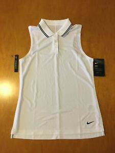 NWT WOMENS XS NIKE DRI-FIT SLEEVELESS GOLF SHIRT.