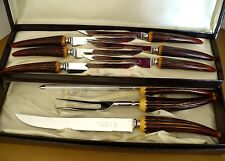Vintage Knife Set George Wood & Sons Sheffield England Lion Brand Stainless