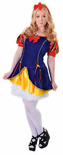 Ladies Snow White Disney Fancy Dress Costume Womens Flirty Party Outfit New