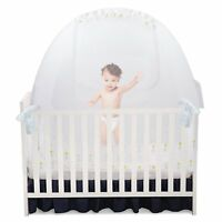 """Self Propping Baby Crib Tent Safety Net Pop Up Canopy Cover 52""""x 27"""" x 52"""" UVG"""