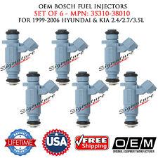 SET OF 6 OEM Bosch Fuel Injectors for 1999-2006 Hyundai & Kia #35310-38010