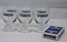 RICARD 6 verres 17 cl trait dose 2cl + jeu de 54 cartes NEUF