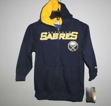 NHL Reebok Buffalo Sabres Hooded Full Zip Sweatshirt New Youth SMALL