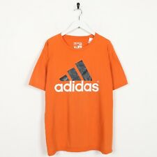 Vintage ADIDAS Big Logo T Shirt Tee Orange | XL