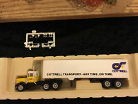 Cottrell Transport 40-feet Semi Tractor Trailer HO scale Herpa Promotex