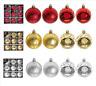 Set Of 9 x 60mm Luxury Glitter Matt Baubles Christmas Xmas Hang Tree Decorations