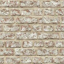 ARTHOUSE OPERA RED WHITE REALISTIC RUSTIC OLD BRICK STONE WALL WALLPAPER 889604