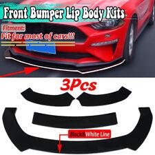 Front Bumper Lip Splitters Spoiler For Ford Mustang 2009-2021 Glossy Black Line