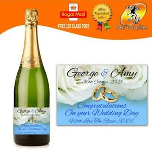 PERSONALISED WEDDING ENGAGEMENT CHAMPAGNE PROSECCO BOTTLE LABEL