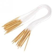 18 Sizes Bamboo Knitting Hooks Set Bamboo Knitting Circular Needles Craft Tool