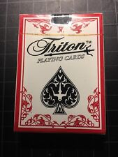 Pack of 4 Triton Playing cards decks for , Poker , Texas Hold'em, Gold Fish etc.