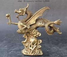 china brass Auspicious Zodiac Year animal dragon Feilong Pterosaur lucky statue