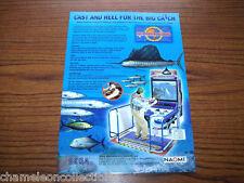 MARINE FISHING  By SEGA 2000 ORIGINAL VIDEO ARCADE GAME SALES FLYER BROCHURE