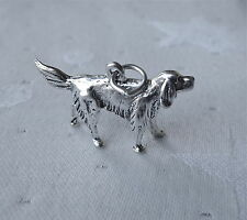 IRISH SETTER DOG 3D 925 CHARM STERLING SILVER