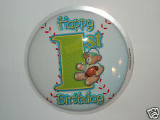 1st Birthday Baseball Cake Topper - Party Cake Decor - Easy Home Use - Sports