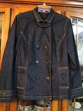 Liz Claiborne Ladies jean jacket coat size Large L short casual womens  EUC