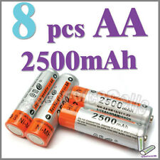 8 x AA Size 2A HR6 LR6 2500mAh 1.2V Ni-MH Rechargeable Battery Cell/RC E@