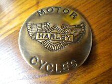 Large Harley Davidson Motorcycle Brass Badge for Jacket Saddle Bags etc.