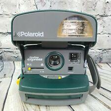 Polaroid 600 One Step Express Instant Film Camera w/ Flash Hunter Green & Gray