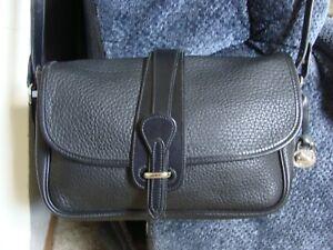 NWOT Vintage Dooney & Bourke Black Leather Handbag Crossbody Equestrian Purse