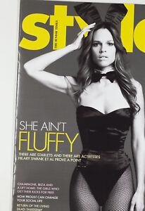 Hilary Swank Playboy Bunny Bowtie Vtg British THE TIMES STYLE MAGAZINE UK