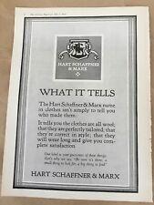 Hart Schaffner & Marx print ad 1924 vintage illus retro art clothes fashion logo