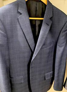 STUDIO ITALIA CHECK JACKET  Australian merino Wool Size 100 Short 40S