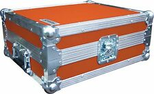 Technics SL1210 Turntable DJ Deck Swan Flight Case (Orange Rigid PVC)