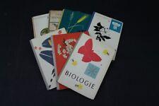 Konvolut Ancienne Livres Schulbuch 7 Pièce Biologie Bio Old Vintage DDR Manuel
