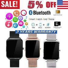 USA Bluetooth Reloj Inteligente Compañero de Teléfono y Cámara Gsm SIM para iPhone Android Samsung