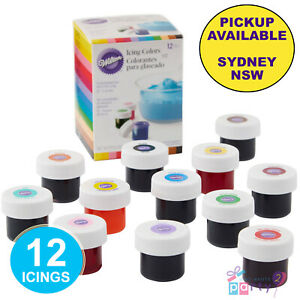 WILTON ICING COLOURS 12 SET CAKE DECORATING SUPPLIES FOOD COLOURING GEL PASTE