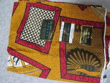 Arama Wax -  Baumwollstoff Afrika Ethno bunt - Original  Elfenbeinküste  - 5,49M