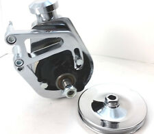 SB Chevy SBC Long Water Pump Chrome Saginaw Power Steering Pump Kit W/ Bracket